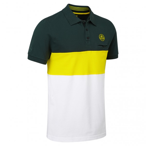 Lotus Polo-Shirt weiß gestreift