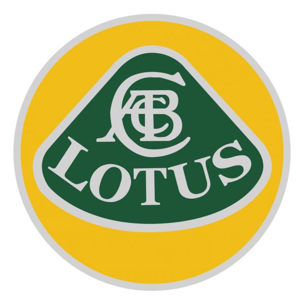 Lotus Aufkleber Roundel (verschiedene Durchmesser von 10-1000mm)