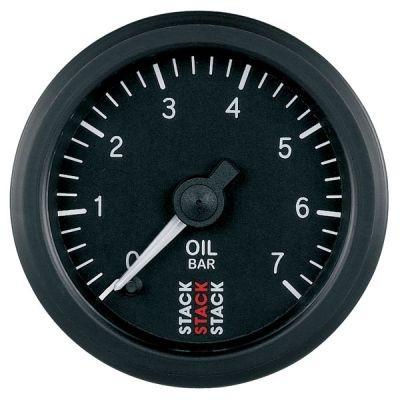 Zusatzinstrument Professional, Öldruck 0-7 bar, schwarz