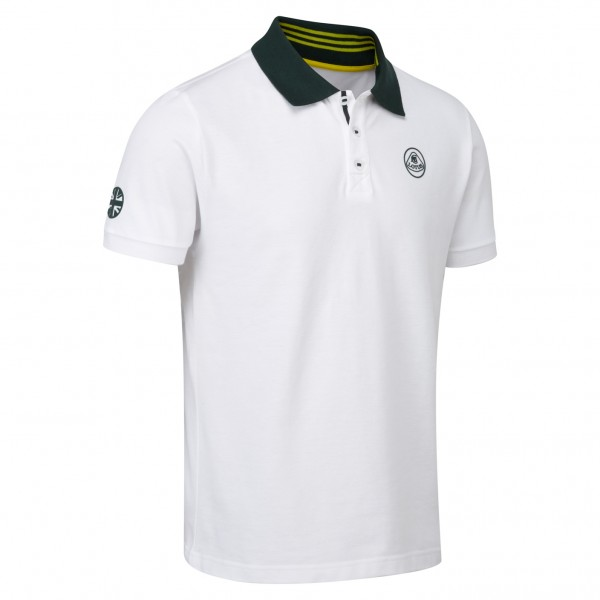 Lotus Polo-Shirt weiß