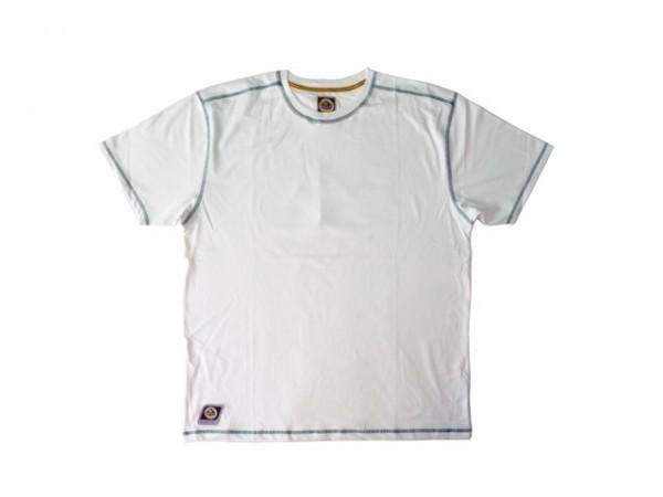 """Lotus T-Shirt """"Crew"""", weiß in Größe L"""